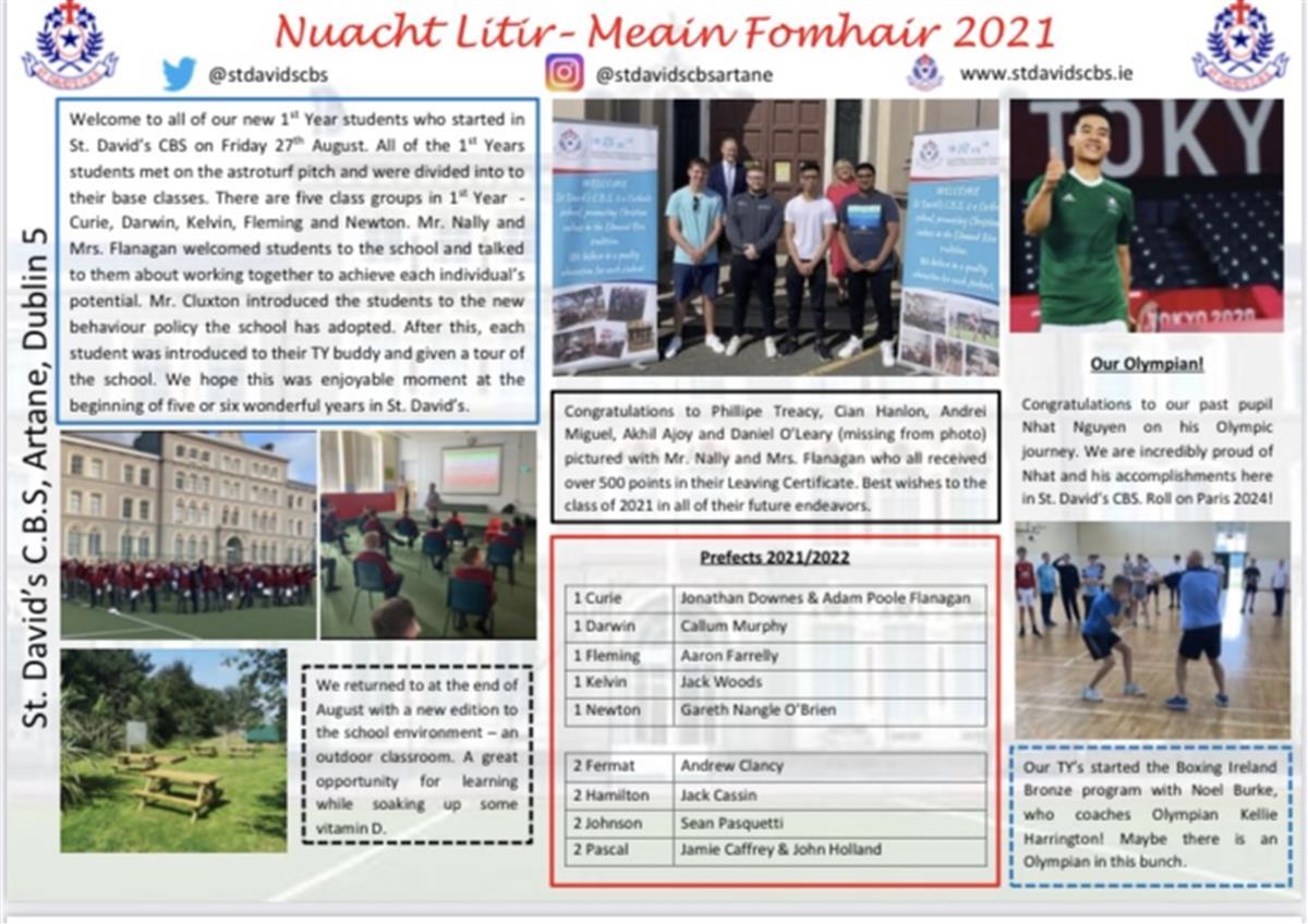 School Newsletter Sept. 2021