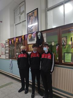 Senior Prefects - Decorating Main Corridor for Halloween